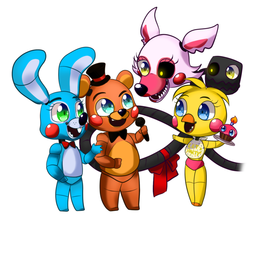 Fnaf Chibi     Group Chibi Sample  By Cattymaddie On Deviantart