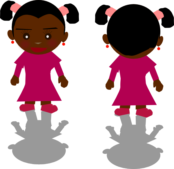 Girl Shadow Clipart