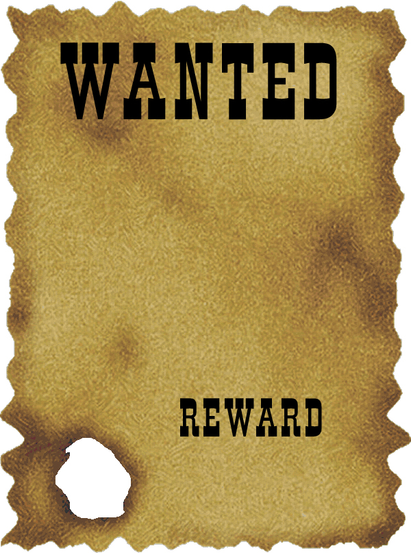 Blank Wanted Poster Clipart Clipart Kid – Free Wanted Poster Template for Kids