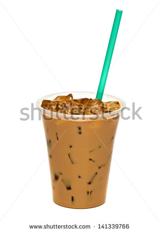 Iced Coffee Clipart Iced Coffee In Takeaway Cup On