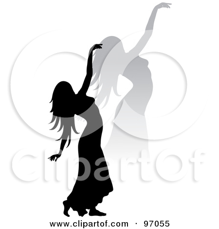 Of Funky Black Women Dancing With Cocktails By Pams Clipart  1050569
