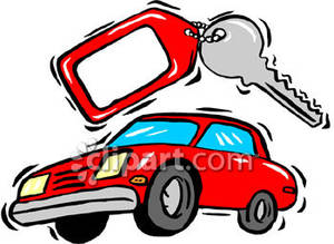 Rental Car With Key   Royalty Free Clipart Picture