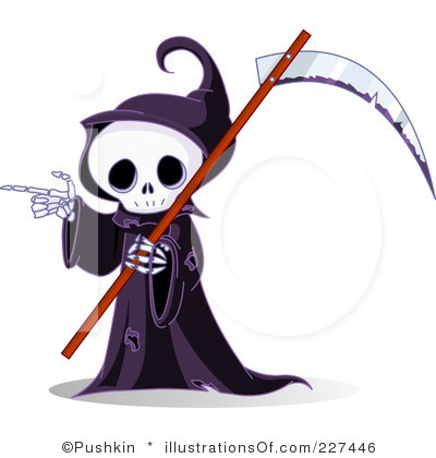 Royalty Free Grim Reaper Clipart Illustration 227446