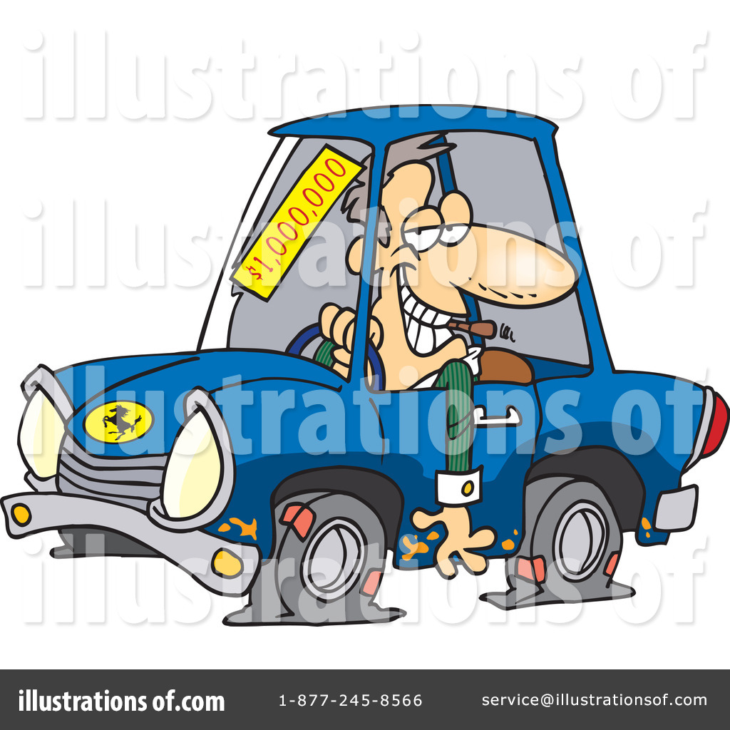 Royalty Free  Rf  Car Salesman Clipart Illustration By Ron Leishman