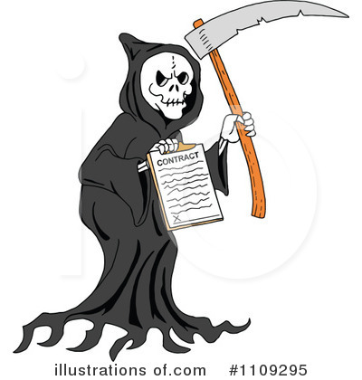 Royalty Free  Rf  Grim Reaper Clipart Illustration By Lafftoon   Stock
