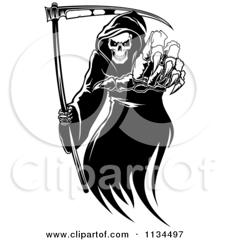Royalty Free  Rf  Grim Reaper Clipart Illustrations Vector Graphics