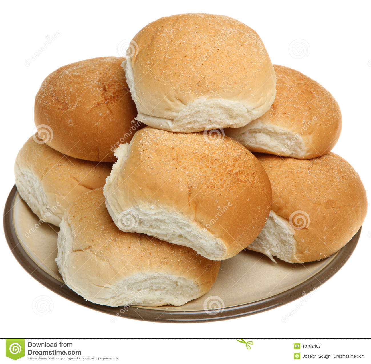 Soft White Bread Rolls Royalty Free Stock Photography   Image