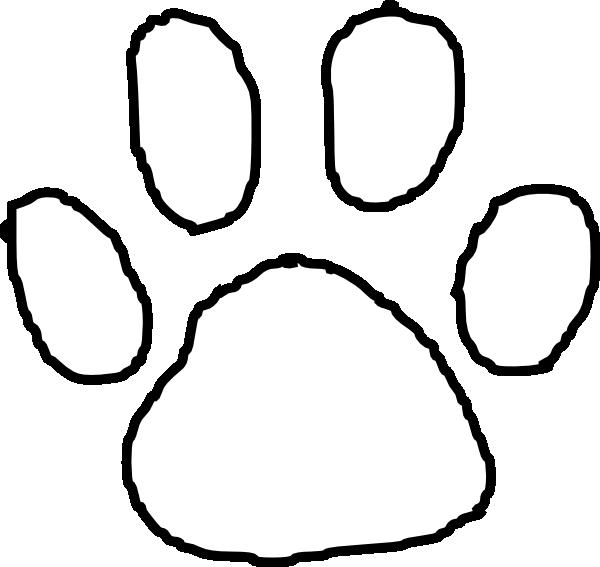 Clip Art Tiger Paw Print Clip Art tiger paw print clipart kid outline clip art at clker com vector online