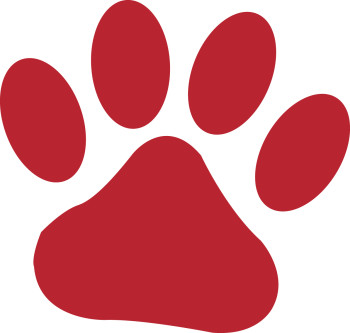 Tiger paw print clipart clipart suggest for Tiger paw template