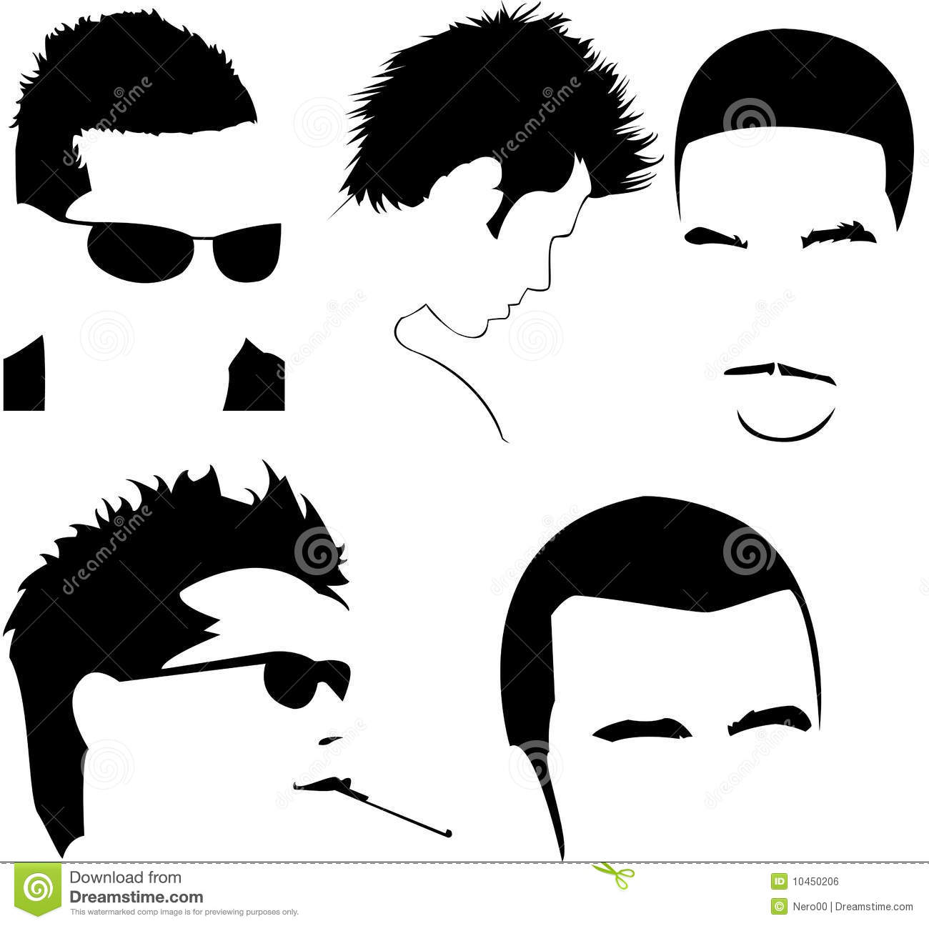 free clipart hairstyles - photo #48