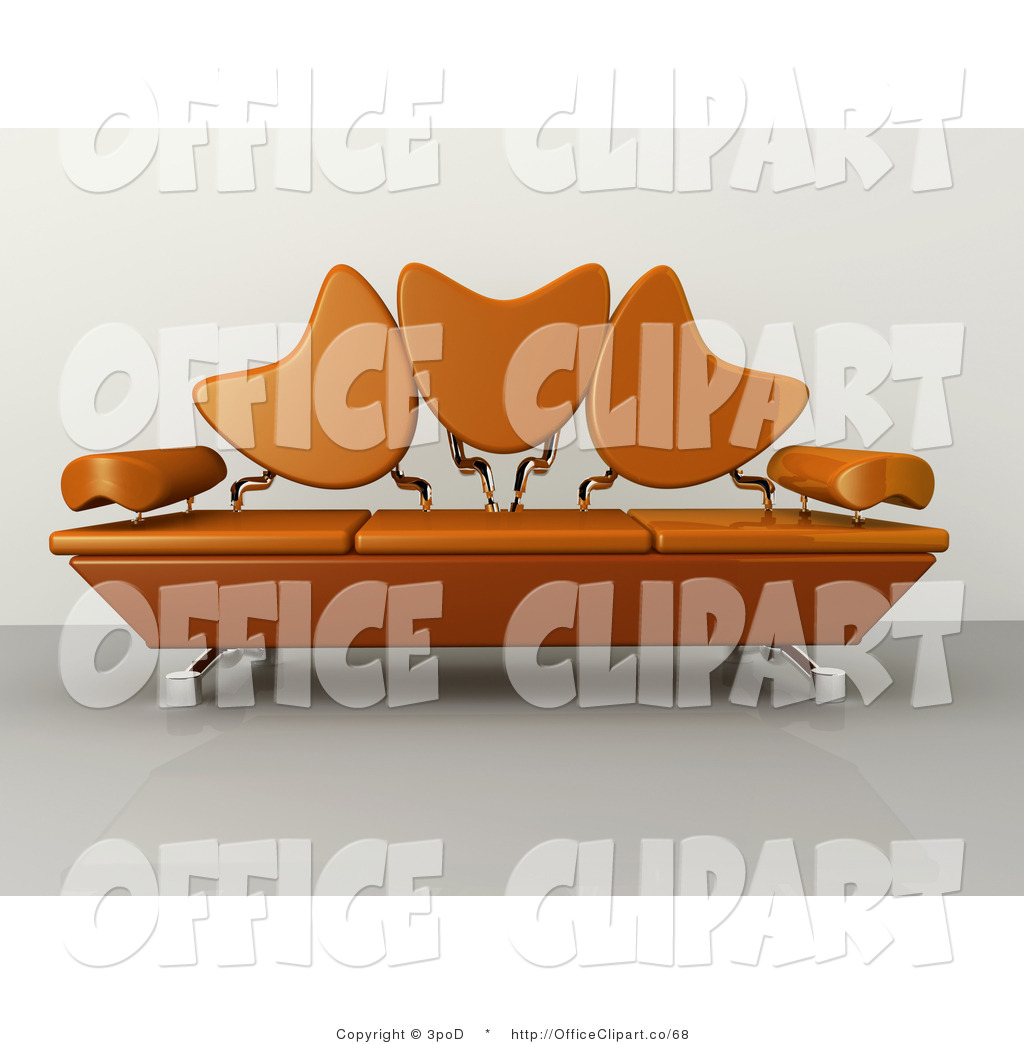 Living Room Clip Art: Couch Top View Clipart