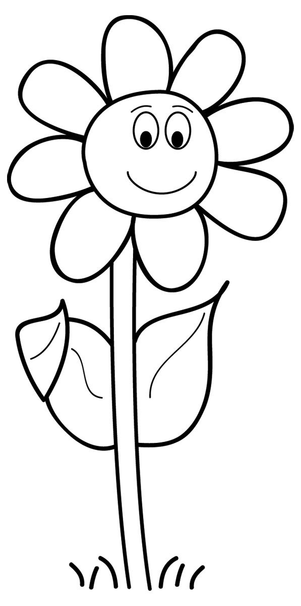 Black And White Flowers Spring Clipart Suggest