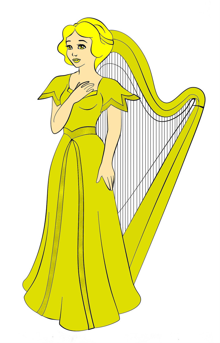 Golden Harp Clipart - Clipart Kid