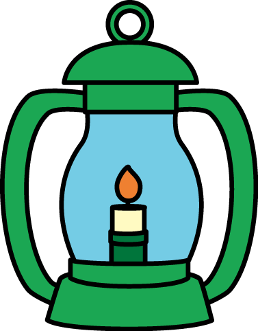 Lantern Image Green With A Handle And Lit Flame Clipart