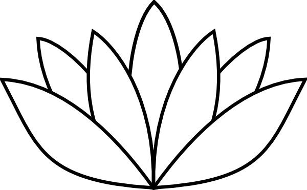 Lotus Flower Line Drawing   Clipart Best