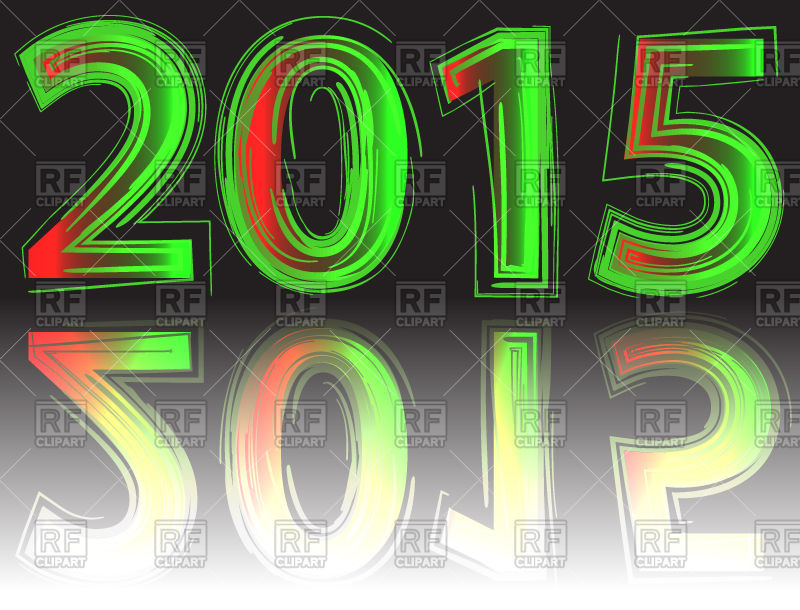 New Year 2015   Neon Numbers 40219 Design Elements Download Royalty