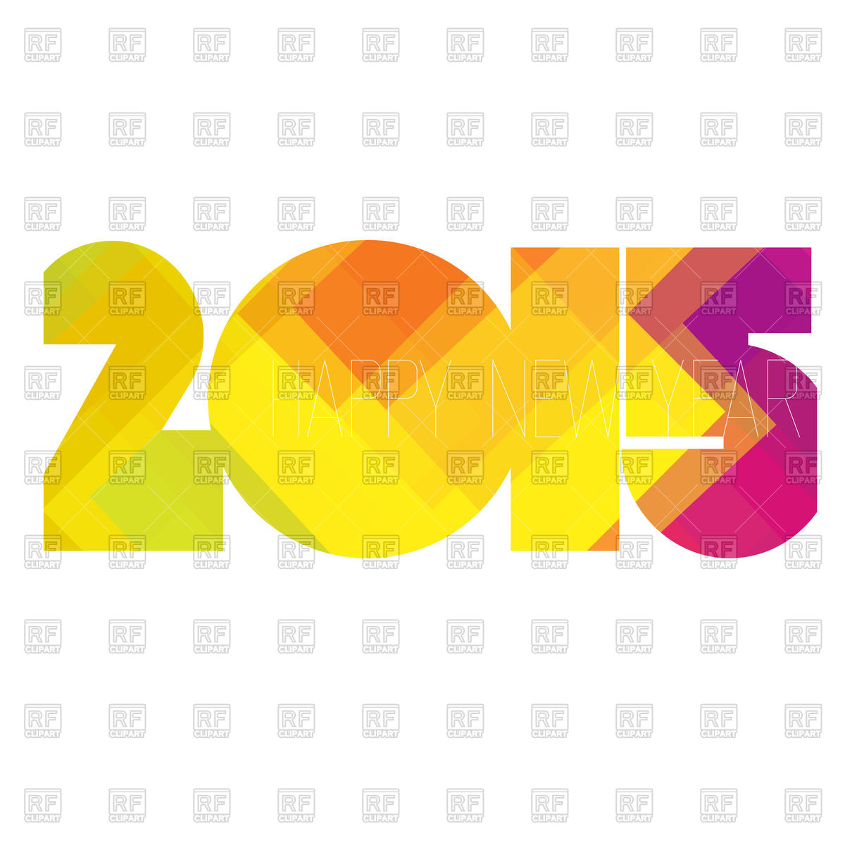 New Year 2015   Number Of Colorful Geometric Pattern 46336 Download