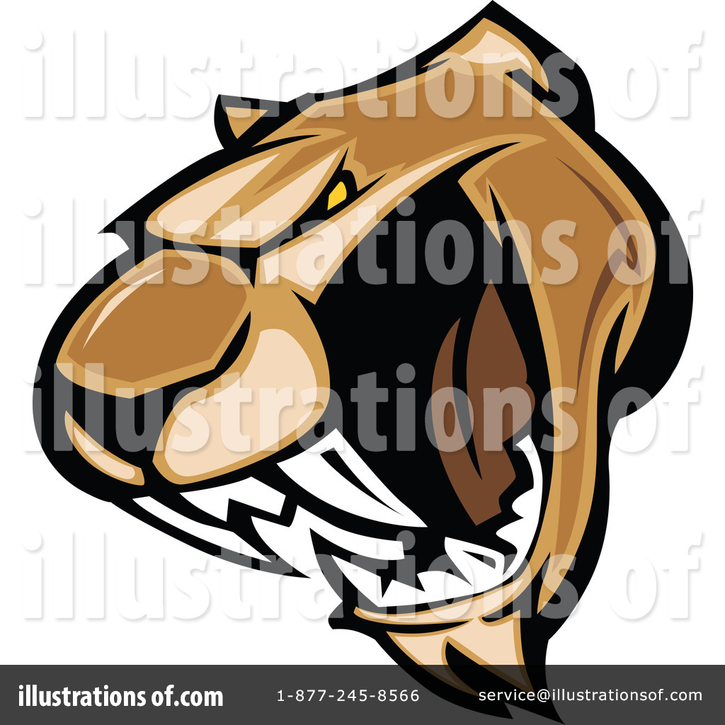 Royalty Free  Rf  Cougar Clipart Illustration By Chromaco   Stock