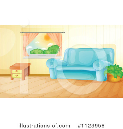 Royalty Free  Rf  Living Room Clipart Illustration By Colematt   Stock