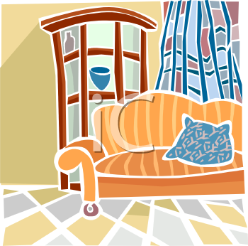 The Clip Art Directory   Living Room Clipart Illustrations