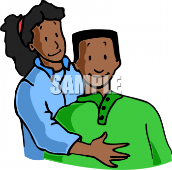 Valentine Clip Art Of An Ethnic Couple   Valentine Clipart Com