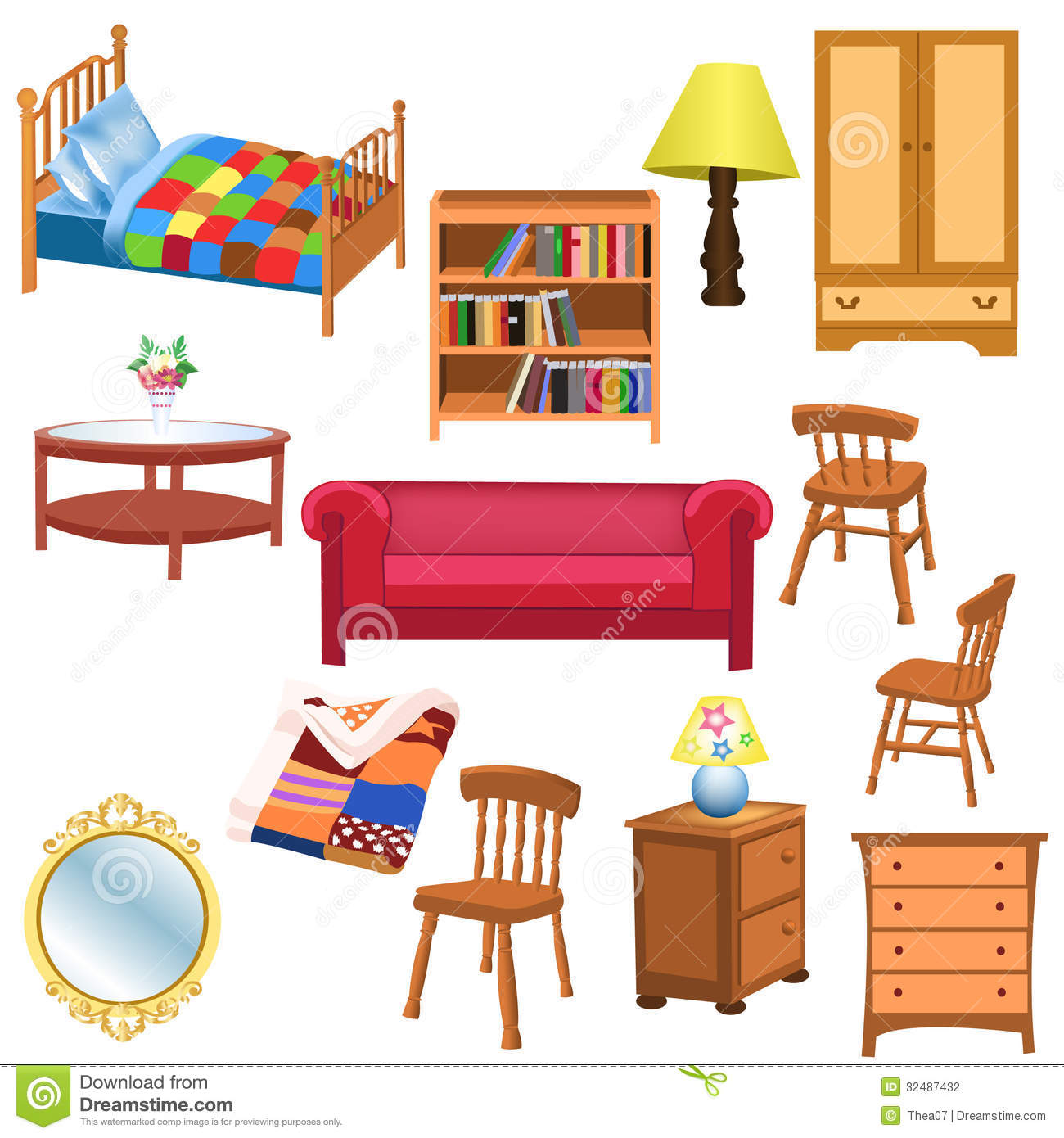 Clip Art House Furniture Clipart - Clipart Kid