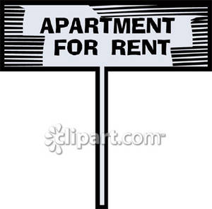 Apartment For Rent Sign   Royalty Free Clipart Picture