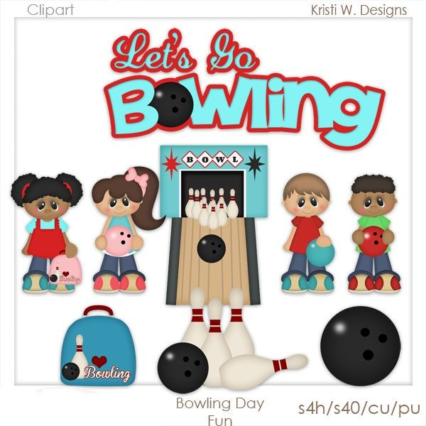 Bowling Day Fun   Sports Clipart   Pinterest