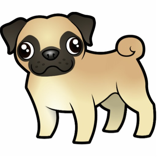 Cartoon Pug Photo Cutouts   Zazzle
