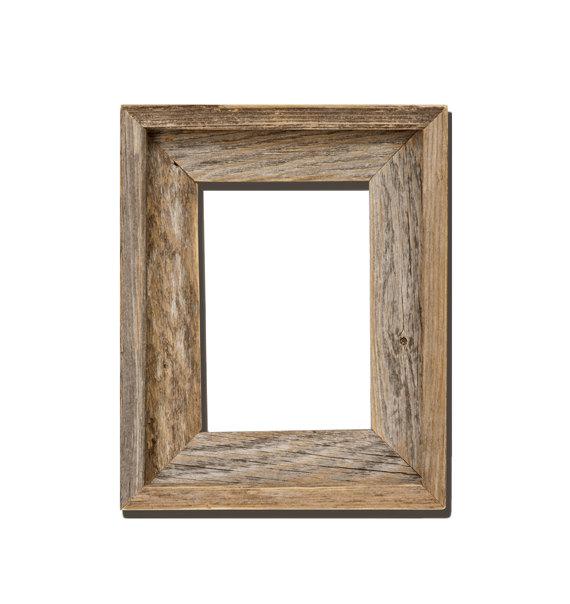 frames barnwood reclaimed wood open frame no glass or back