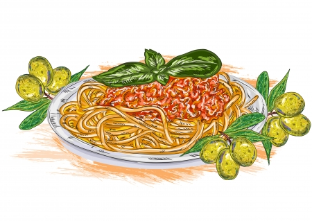 Home   Abstract   Tomato Vector Spaghetti Whith Tomato Sauce