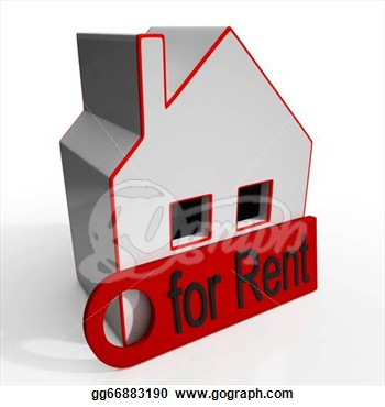 Illustration   Home For Rent Sign Showing Rental  Clipart Gg66883190