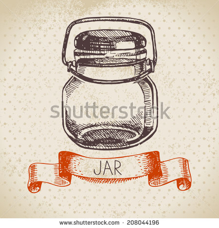 Images Similar To Id 164162900   Mason Jars Clip Art With Banner