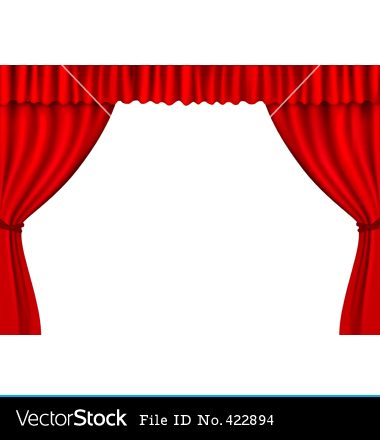 Old Style Red Theater Curtain Clipart