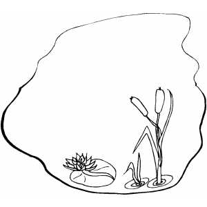 pond animals coloring pages - pond plants clipart clipart suggest