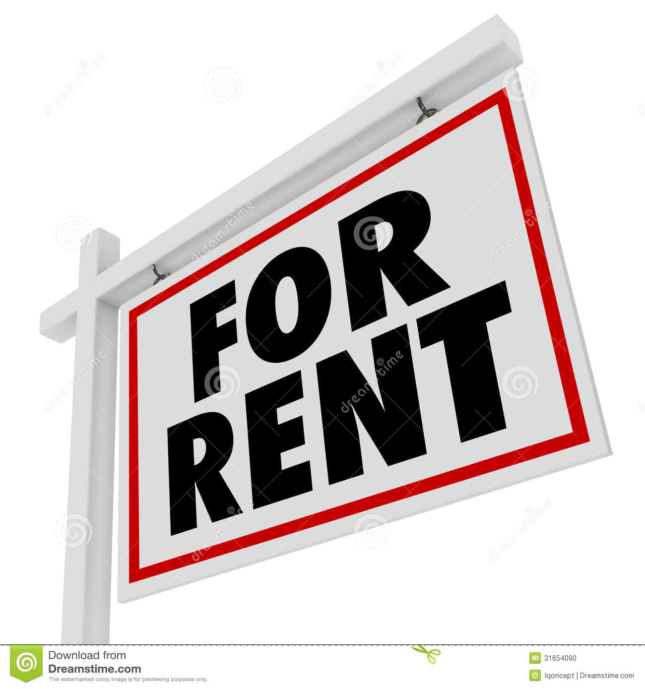 House For Rent Clip Art: Free Lease Clip Art