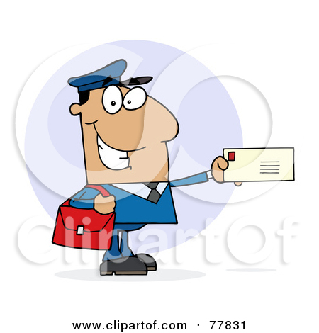 Royalty Free Mailman Illustrations By Hit Toon  1