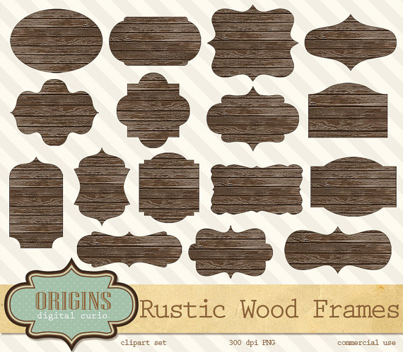 rustic wood frame clipart rustic wood frames clipart digital shabby by