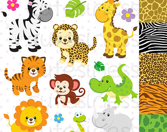 Safari Clipart  Baby Animals Clipart Zoo Clipart  Cute Animals