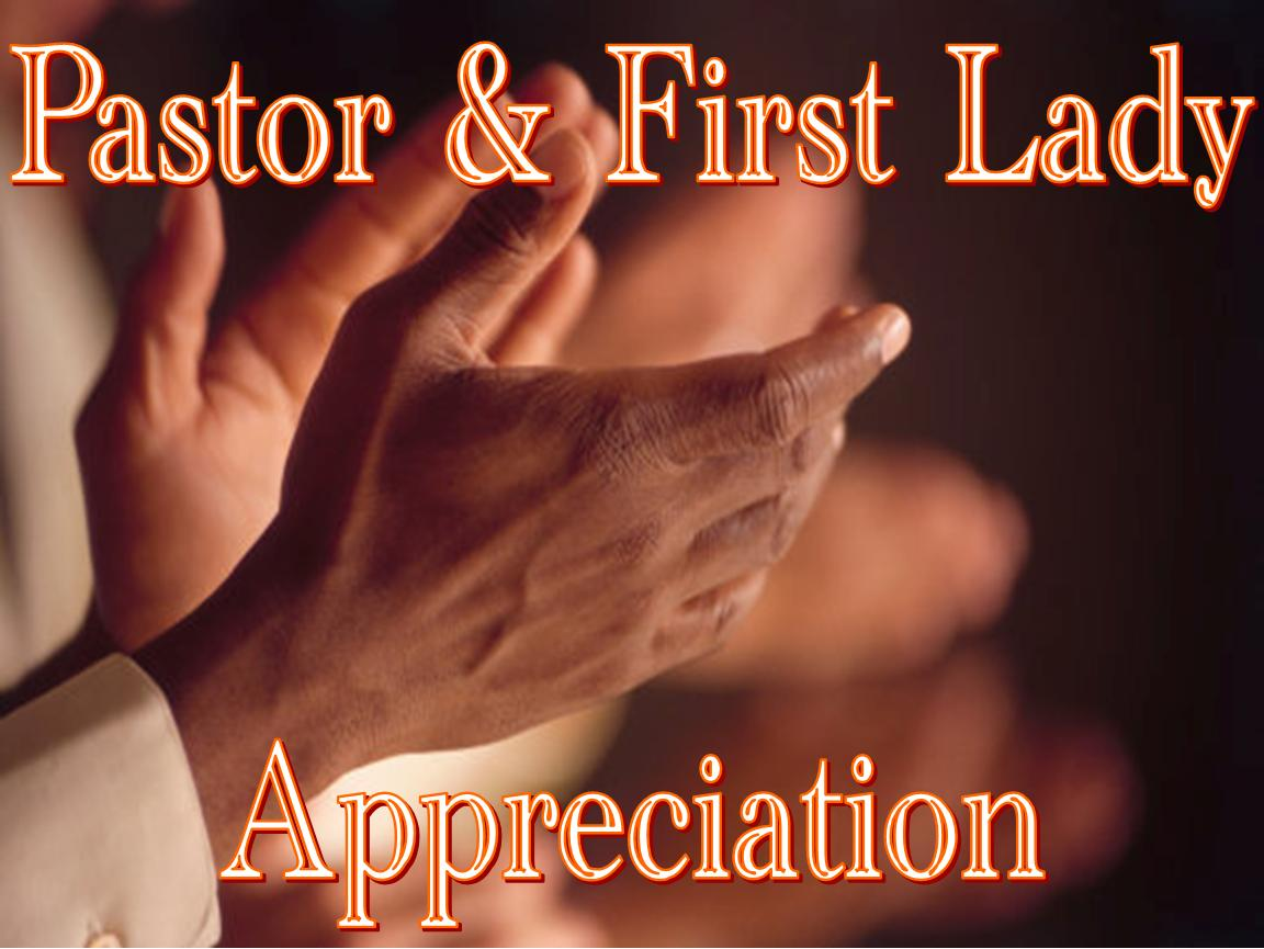 "pastor appreciation New zion missionary baptist church's pastor and wife ap-preciation committee would like to take this time to say ""thank you"", for."