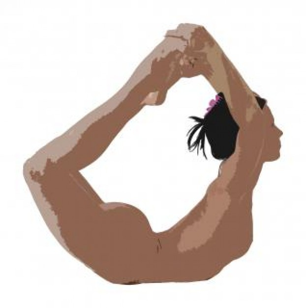 Yoga Pose Clipart Flexibility Yoga Photo   Free Download