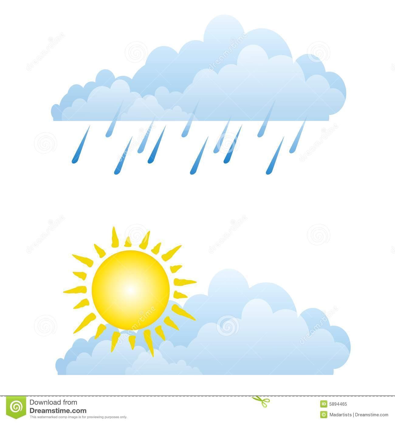 Clip Art Partly Sunny Partly Rainy Clipart - Clipart Kid