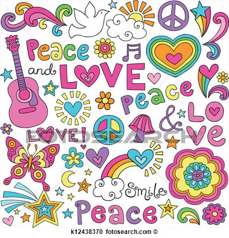 Clipart   Peace Love Music Groovy Doodles  Fotosearch   Search Clip