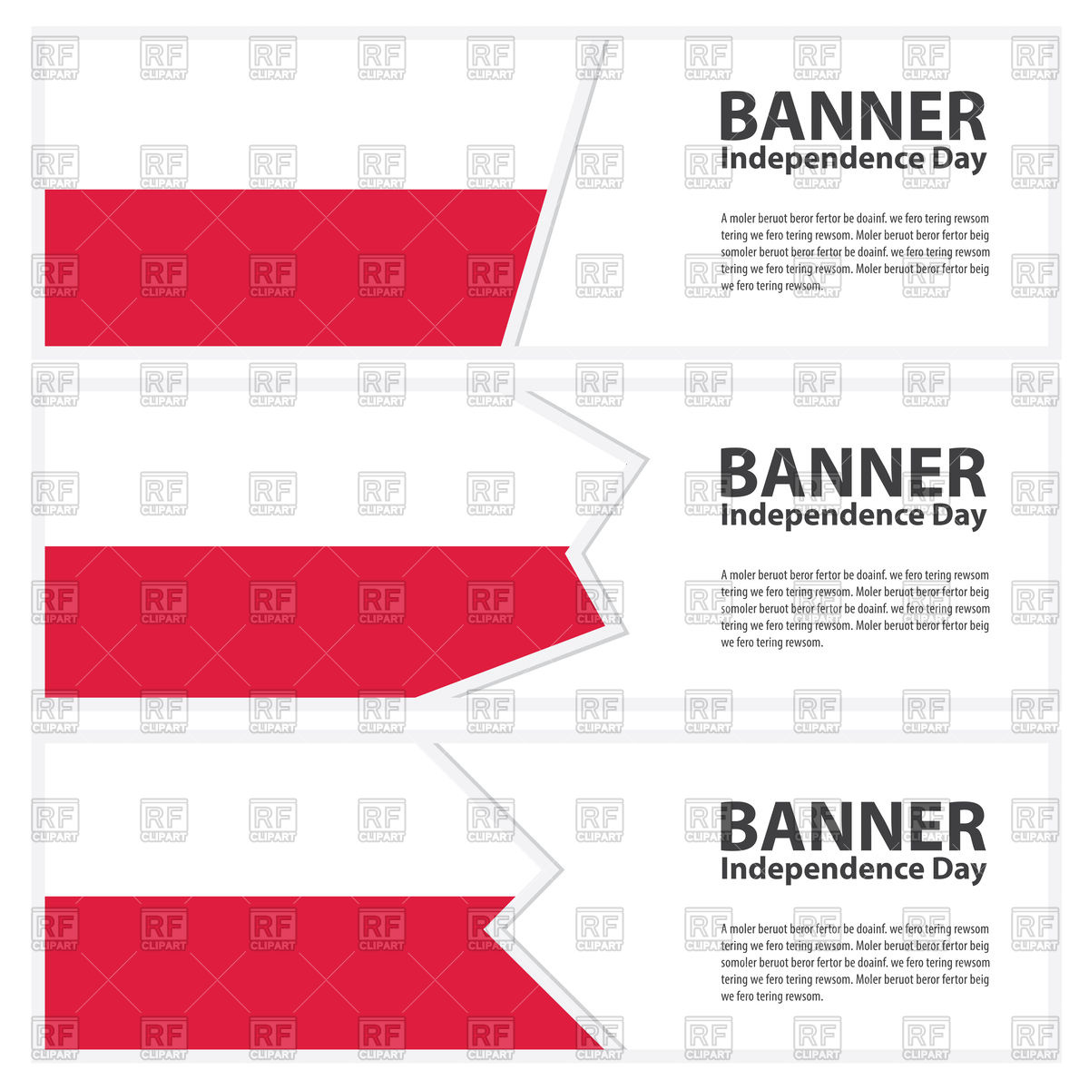 Poland Flag Banners 88900 Download Royalty Free Vector Clipart  Eps