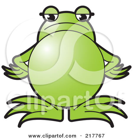 Royalty Free  Rf  Clipart Illustration Of A Green Frog Standing With