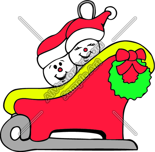 Snowpeople4 Clipart And Vectorart  Holidays Graphics   Christmas