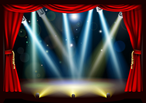 Stage With Spotlight Effect Design Vector Material 03   Vector Other