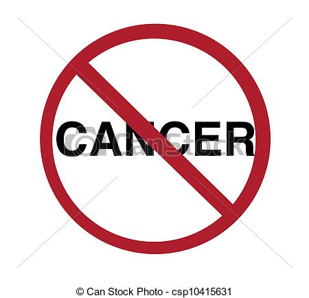 Stock Illustration   Sign   No Cancer   Stock Illustration Royalty