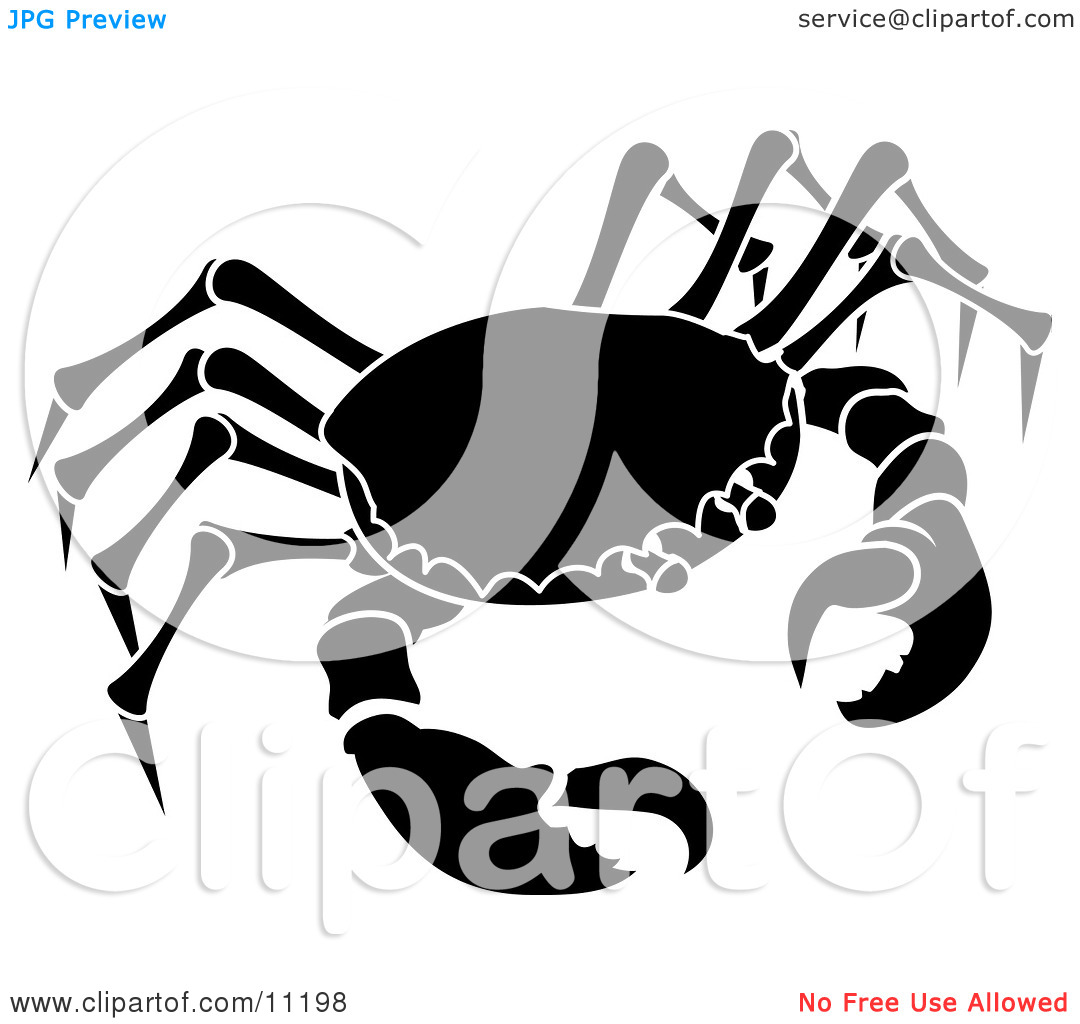 The Cancer Astrology Sign Of The Zodiac The Crab Clipart Illustration