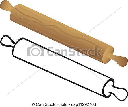 Clip Art Vector Of Rolling Pin For Dough Csp11292766   Search Clipart